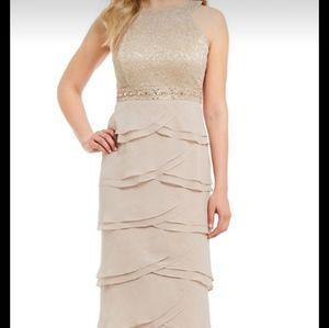 Champagne color mother of groom/bride dress